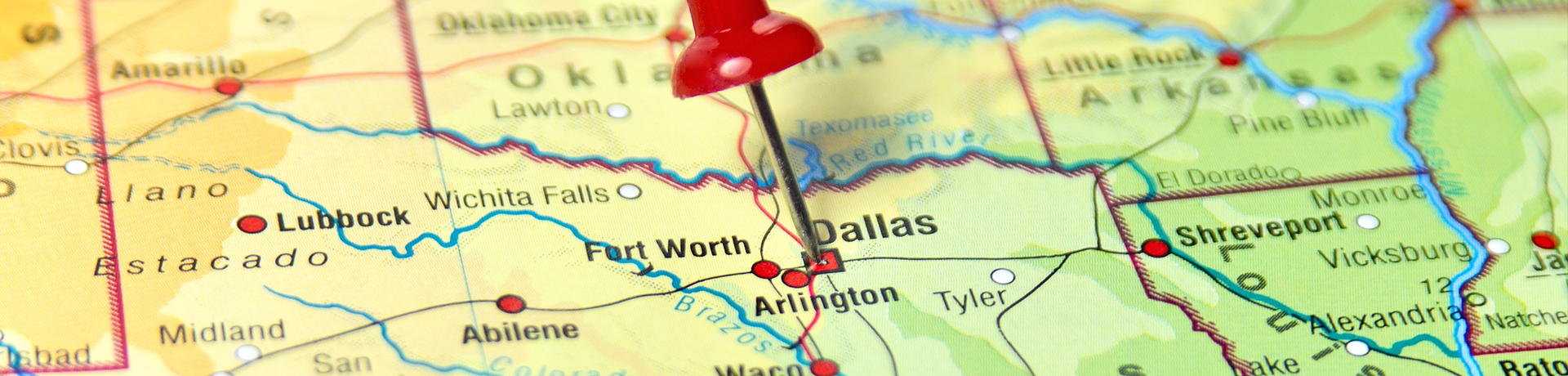 dallas pin on map